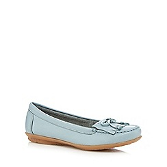 Hush Puppies - Pale blue 'Ceil' slip-on shoes