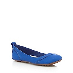 Hush Puppies - Royal blue 'Janessa' ballerina pumps