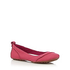 Hush Puppies - Bright pink 'Janessa' slip-on shoes