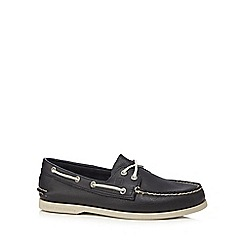 Sperry - Navy leather 'Authentic Original' boat shoes