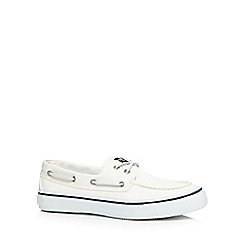Sperry - White 'Bahama' boat shoes