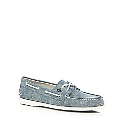 Sperry - Navy canvas boat shoes
