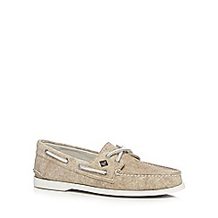 Sperry - Tan canvas boat shoes