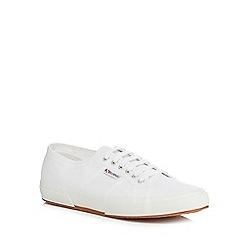 Superga - White canvas 'Cotu' lace up shoes
