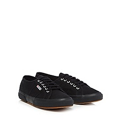 Superga - Black canvas 'Cotu' lace up shoes