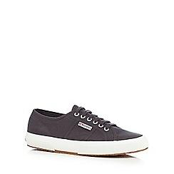 Superga - Grey canvas 'Cotu' lace up shoes