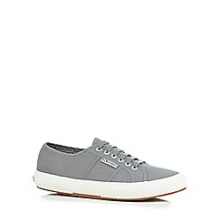 Superga - Light grey 'Cotu' lace up shoes