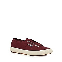 Superga - Dark red 'Cotu' lace up shoes