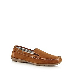 Lotus - Tan 'Colby' slip-on shoes