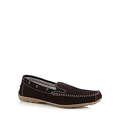 Lotus - Brown 'Colby' slip-on shoes