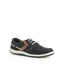 Lotus Since 1759 - Navy 'Sheridan' boat shoes