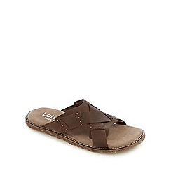 Lotus - Brown 'Betteridge Cross' sandals