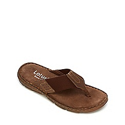 Lotus Since 1759 - Brown leather 'Sebastian' flip flops
