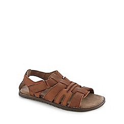Lotus - Brown 'Brendon Fisherman' sandals