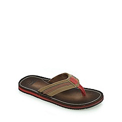 Clarks - Brown 'Riverway Sun' casual flip flops