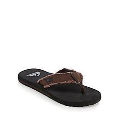 Quiksilver - Brown textured flip flops