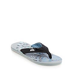 Quiksilver - Grey logo print flip flops