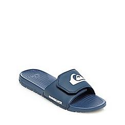 Quiksilver - Blue logo print sandals