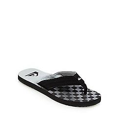 Quiksilver - Black logo checkerboard print flip flops