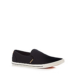 Jack & Jones - Black canvas slip-on shoes