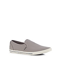 Jack & Jones - Grey canvas slip-on shoes
