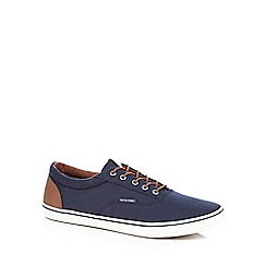 Jack & Jones - Navy canvas lace up shoes