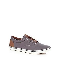 Jack & Jones - Grey canvas lace up shoes