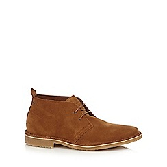Jack & Jones - Tan 'Gobi' suede Chukka boots