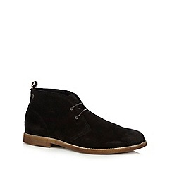 Jack & Jones - Black 'Alpha' waxed Chukka boots