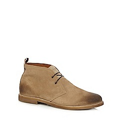 Jack & Jones - Beige 'Alpha' waxed Chukka boots