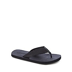 Jack & Jones - Black denim flip flops
