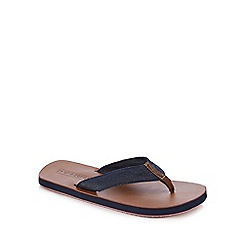 Jack & Jones - Tan denim flip flops