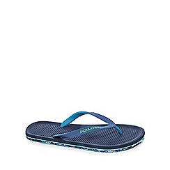 Jack & Jones - Navy printed sole flip flops