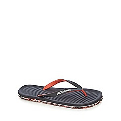 Jack & Jones - Black printed sole flip flops