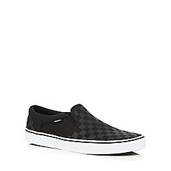 Vans - Black 'Asher' slip-on shoes