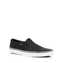 Vans - Black 'Asher' slip-on shoes