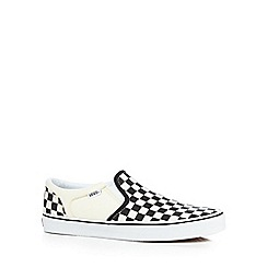Vans - Big and talloff white 'asher' slip-on shoes