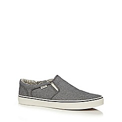 Vans - Grey canvas 'Asher' slip on shoes