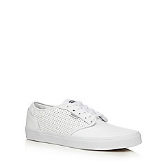 Vans - White perforated 'Atwood' lace up shoes