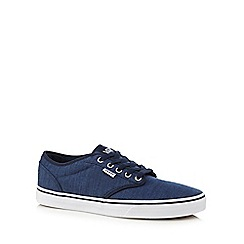 Vans - Blue canvas 'Atwood' lace up shoes