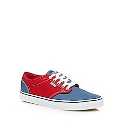 Vans - Blue and red canvas lace up shoes