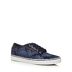 Vans - Navy tropical print 'Atwood' lace up shoes
