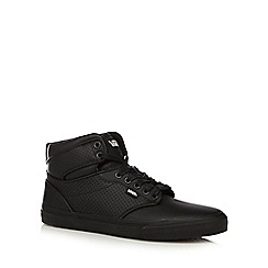 Vans - Black perforated 'Atwood' high top trainers