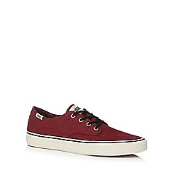 Vans - Red canvas 'Vulcanised' lace up shoes