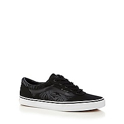 Vans - Black tropical print 'Milton' lace up shoes