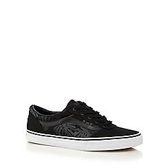 Vans - Black tropical print 'Milton' lace up shoes