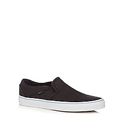 Vans - Black canvas 'Asher' slip on shoes