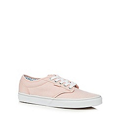 Vans - Peach canvas 'Atwood' lace up shoes