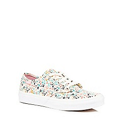 Vans - Multi-coloured floral print canvas lace up trainers