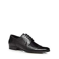Red Herring - Black leather wing tip shoes